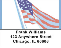 Old Glory Address Labels | LBBBA-39