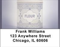 Vintage Canisters Address Labels