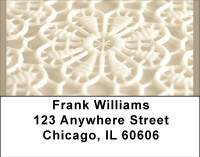 White Lace Address Labels