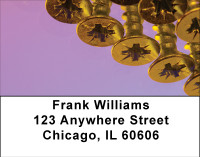 Golden Screws Address Labels