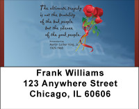 Martin Luther King Tribute Address Labels