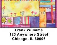 Quilt Inspired Americana Art Address Labels