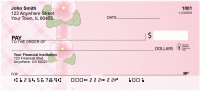Pink Plaids And Flowers Personal Checks | QBR-80