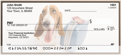 Adorable Bassets Personal Checks | BBA-81