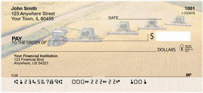 Wheat Harvest Personal Checks | BBD-47