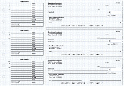Blue Knit Accounts Payable Business Checks | BU3-BLU02-DED
