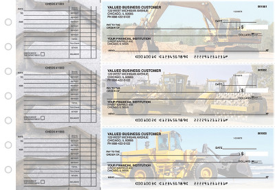 Construction Accounts Payable Designer Business Checks | BU3-CDS10-DED