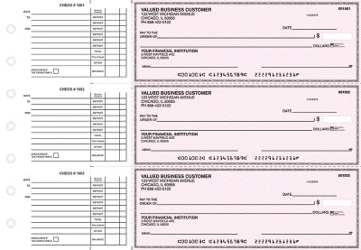 Pink Safety Accounts Payable Business Checks | BU3-PSF01-DED
