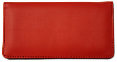 Red Smooth Leather Checkbook Cover | CLP-RED02