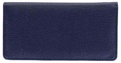 Navy Leather Side Tear CheckBook Cover | CLS-BLU01