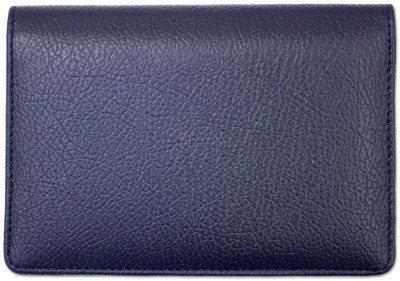 Blue Leather Top Stub Checkbook Cover | CLW-BLU01