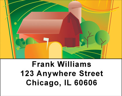 Sunny Days On Farm Address Labels | LBBBA-05