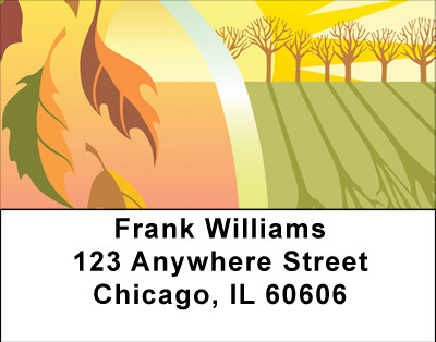 Sunny Fall Days Address Labels | LBBBA-49