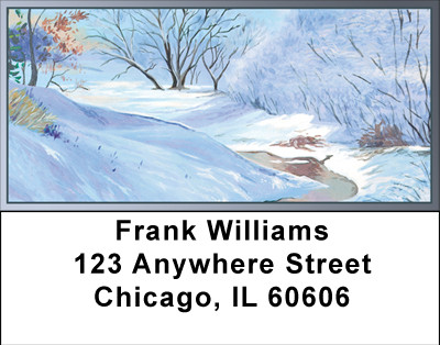 First Snow Address Labels | LBBBA-51