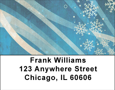 Ribbons Of Snow Address Labels | LBBBA-54