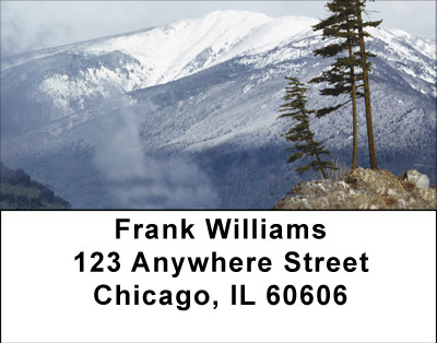 Mile High Mountain Views Address Labels | LBBBA-56