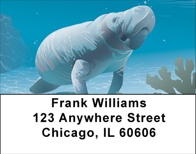 Magnificent Manatee Address Labels | LBBBB-37
