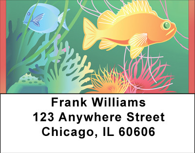 Colorful Tropical Fish Address Labels | LBBBB-38