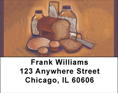 Whole Wheat Breads And Pastas Address Labels | LBBBC-08