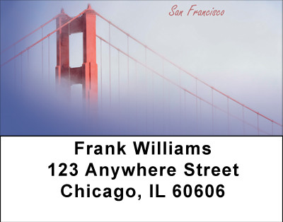 San Francisco Bridge Address Labels | LBBBC-78