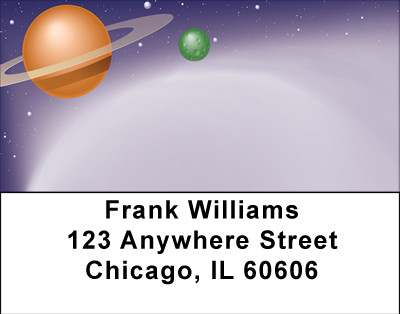 The Space Age Address Labels | LBBBG-12