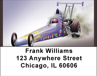 Dragster Racing Address Labels | LBBBG-90