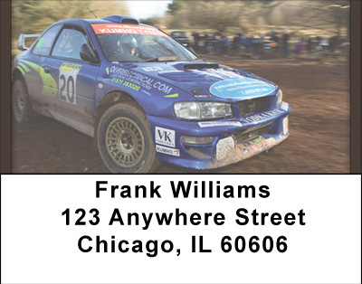 Rally Car Tough Address Labels | LBBBH-56