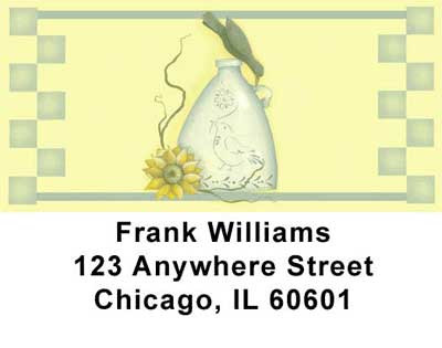 Sunflowers and Crows Address Labels | LBJHS-07