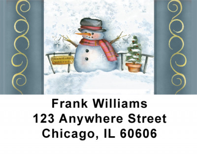 Snowflake Collector Address Labels | LBJHS-19