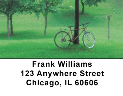 Summer Biking Address Labels | LBQBP-87