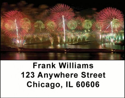 Fireworks Address Labels | LBSCE-03
