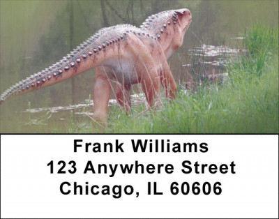 Dinosaurs Roaming Forests & Lakes Address Labels | LBZANK-02