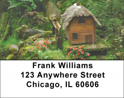 Mystical Fairy Homes Address Labels | LBZFUN-34