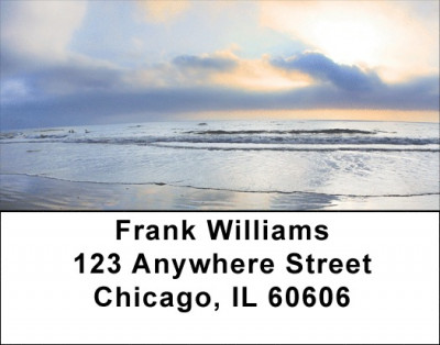 Silver Lining Address Labels | LBZNAT-15