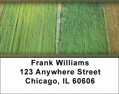 Fields Of Green Address Labels | LBZNAT-27