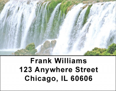 Tropical Falls Address Labels | LBZNAT-48
