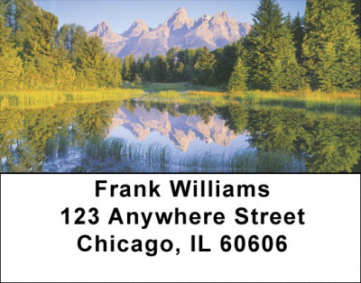 Pristine Mountain Lakes Address Labels | LBZSCE-77