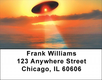 Alien Abduction Address Labels | LBZSPA-05