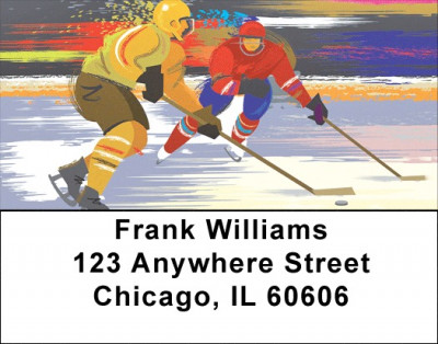 Hockey One on One Address Labels | LBZSPO-18