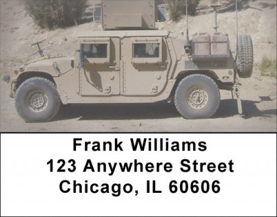 Hummers and Humvees Address Labels | LBZTRA-22