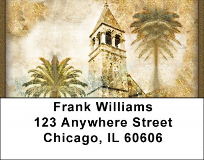 Old World Architecture Address Labels | LBZTVL-06
