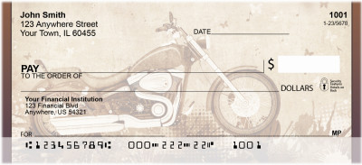 Golden Classic Motorcycle Personal Checks | QBQ-72