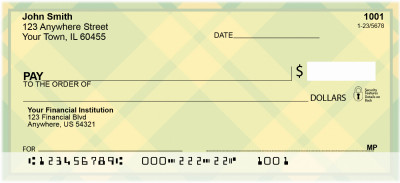 Colorful Plaids And Dots Personal Checks | QBR-41
