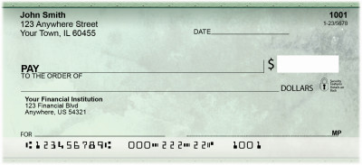 Going Green Personal Checks | ZABS-26