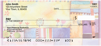 Quilt Inspired Americana Art Personal Checks | ZABS-48