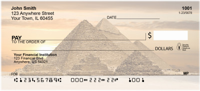 Egyptian Monuments Personal Checks | ZAFR-11