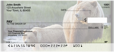 Grizzly Bears Personal Checks | ZANI-12