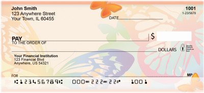 Butterfly Collector Personal Checks | ZANI-50