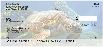 Swimming Sea Turtles Personal Checks | ZANJ-85