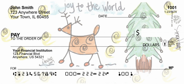 Joy to the World Personal Checks | AMY-08